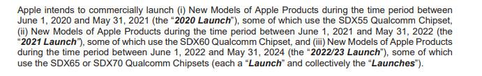 Apple Qualcomm 5G Modem Settlement