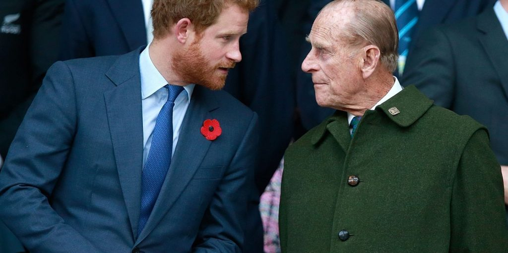"""Alas, Prince Philip """"walked away"""" from Prince Harry."""