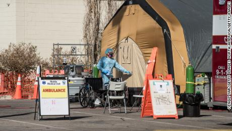 A coronavirus patient setup was set up Friday at the University Medical Center in El Paso, Texas.