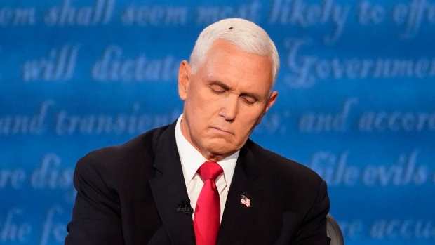 A fly over Mike Pence steals the show during the Vice Presidential debate