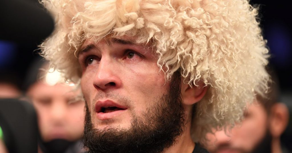Khabib Noormagomedov pays tribute to father after emotional UFC 254 victory