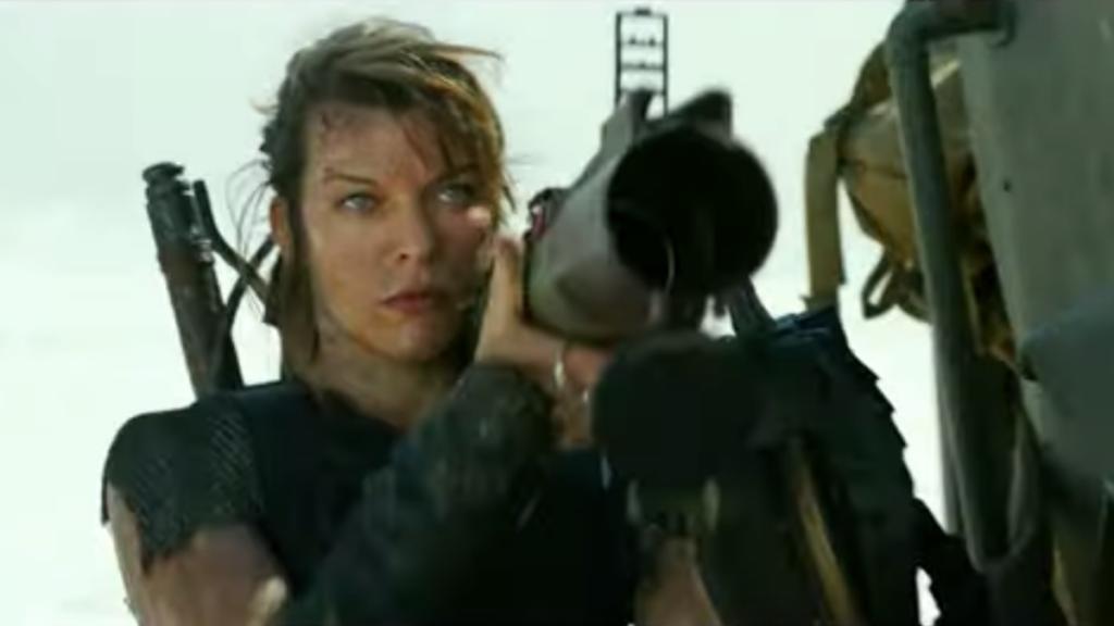 Milla Jovovich does his job