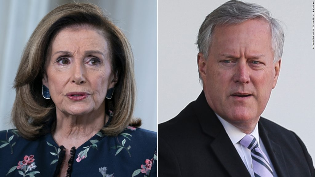 Pelosi and Meadows' trade allegations over stimulus negotiations in the token agreement remain unclear