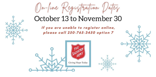 Registration opens for the Salvation Army to share the Christmas food & toy program - Kelowana News