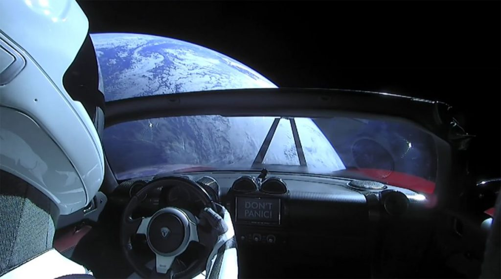 'Starman' crosses Mars on its rapidly declining Tesla Roadster
