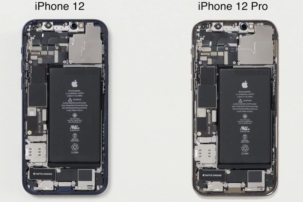Teardown video confirms the same 2,815 mAh battery used by the iPhone 12 and iPhone 12 Pro