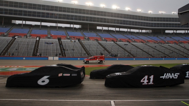 The NASCAR Cup playoff in Texas is still stalled due to rain