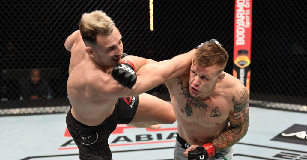 UFC Fight Island 6 Video: Jimmy Crut crushes Modestas Bucaskas with a devastating first round knockout