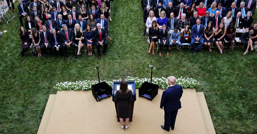 White House Contact Tracing 'Super-Spreader' Trump Rose Garden Event