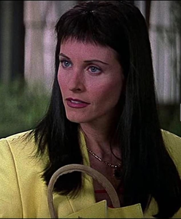 Iconic: Cox look in 2000 sequel Scream 3 ... the source of her very bad bangs