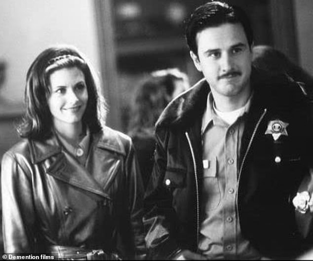 The way they are: this new film actually reunites her with her smoking ex-husband David Arquette, with whom she was filmed in her first film