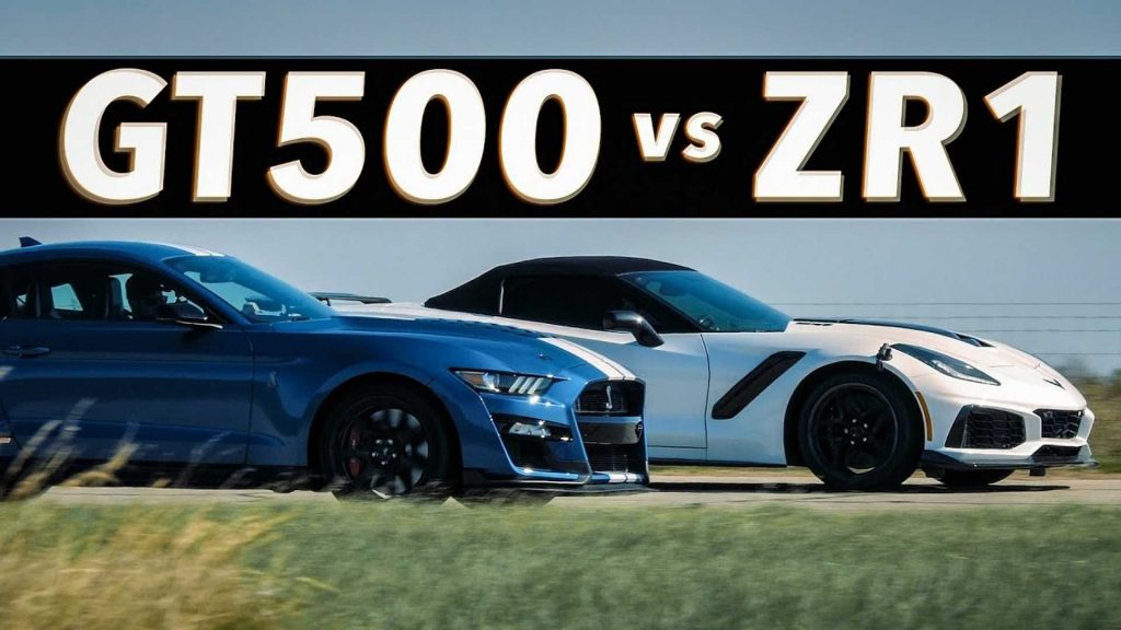Before the Corvette ZR1 Races Mustang Shelby GT500 1,000-HP Upgrade