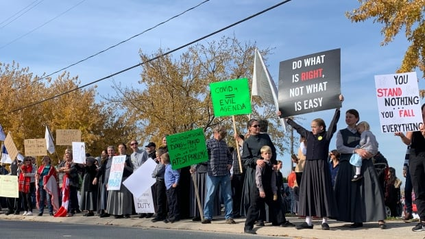 2,000 people protest COVID-19 health measures in Ilmer, Camel