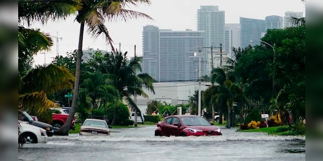 A car navigated Monday, November 9, 2020 in the vicinity of Melros Manors west of downtown Fort Lauderdale.