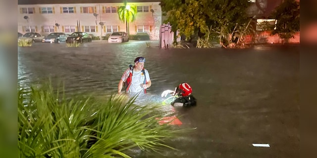 Sunday, November 8, 2020 Lauderhill, Fla.  The condition of a man who went into the canal in is poisonous.