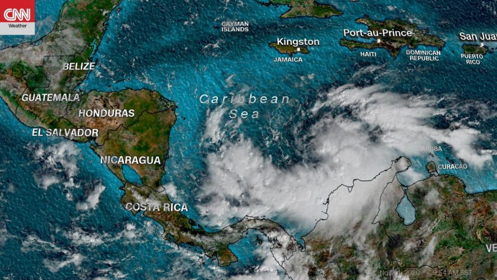 Hurricane Iota: Central America is expected to strengthen and storm expected early next week