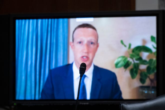 Facebook CEO Mark Zuckerberg testified remotely during a Senate Judiciary Committee hearing on Facebook.