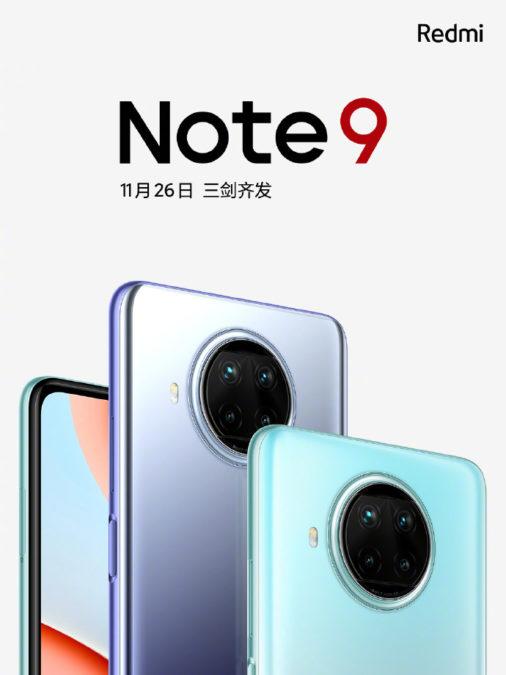 xiaomi redmi note 9 launch render