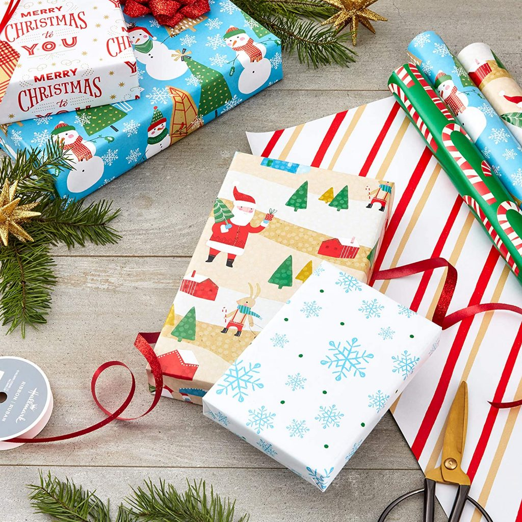 Amazon cut prices until midnight on Hallmark's best-selling wrapped paper