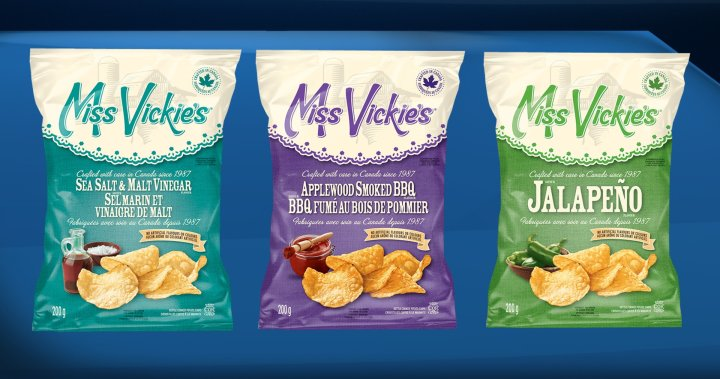 Miss Vickies says chips recalled in eastern Canada were also shipped to western cities