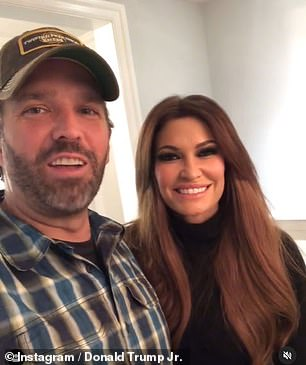 Donald Trump Jr. (along with his girlfriend Kimberly Gilfoyle) says he 'Rona' is free Wednesday night