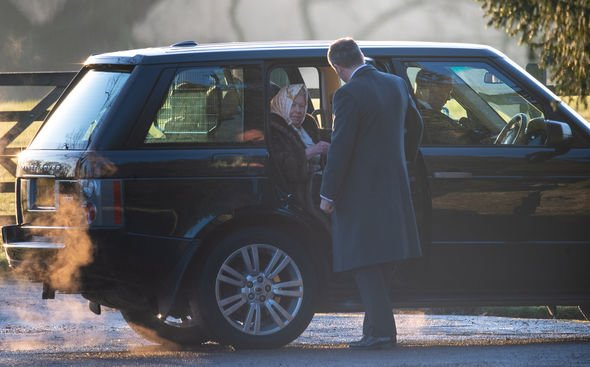 Queen in Sandringham on the eve of Christmas last year