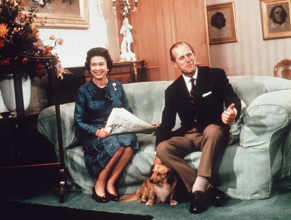 The Queen and Prince Philip, photographed with their beloved Corgis at Balmoral in 1972