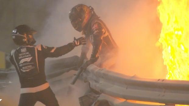 Romain Grosjean escaped a horrific F1 crash at the Bahrain GP