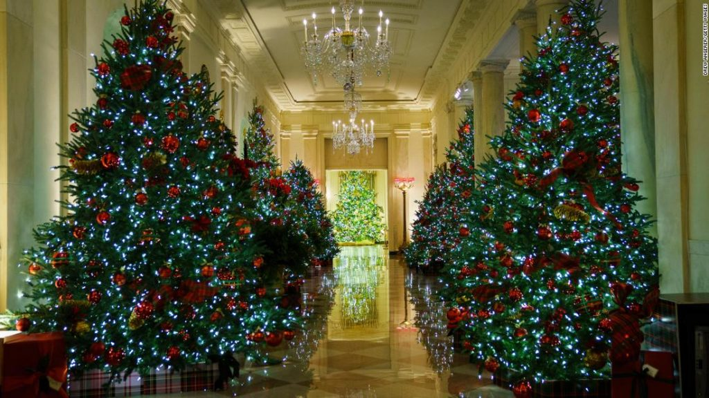 Melania Trump's White House Holiday Decor highlights the workers in need