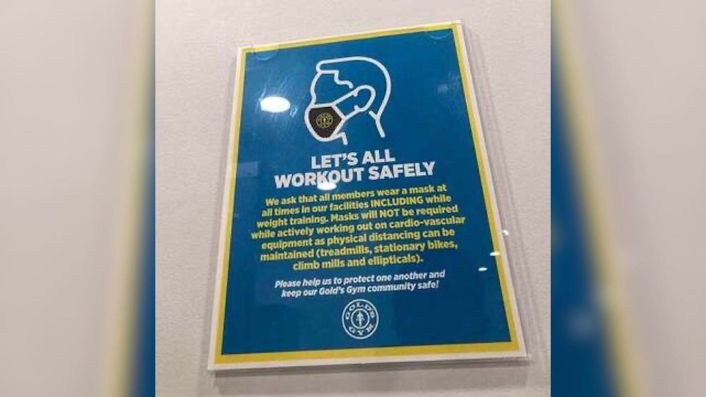 BC Ferries viral sign shares similar to Gold Gym