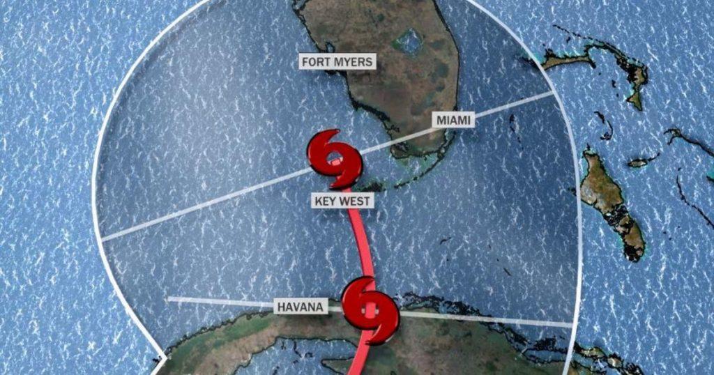 Florida on the way to tropical cyclone Eta