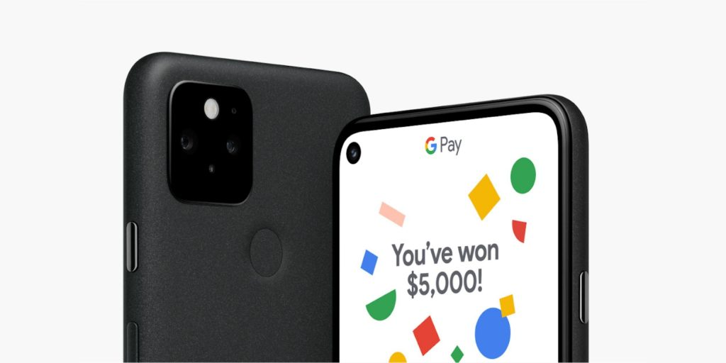 Google Store 'Pixel 5 $ 5G' sweepstakes win 5,000