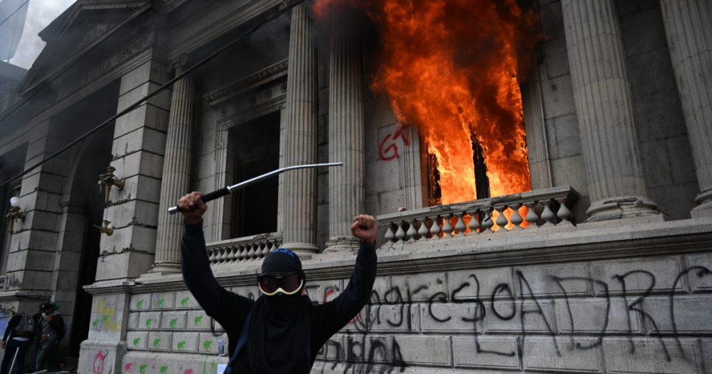 Guatemalan protesters infuriate Congress  Latin America