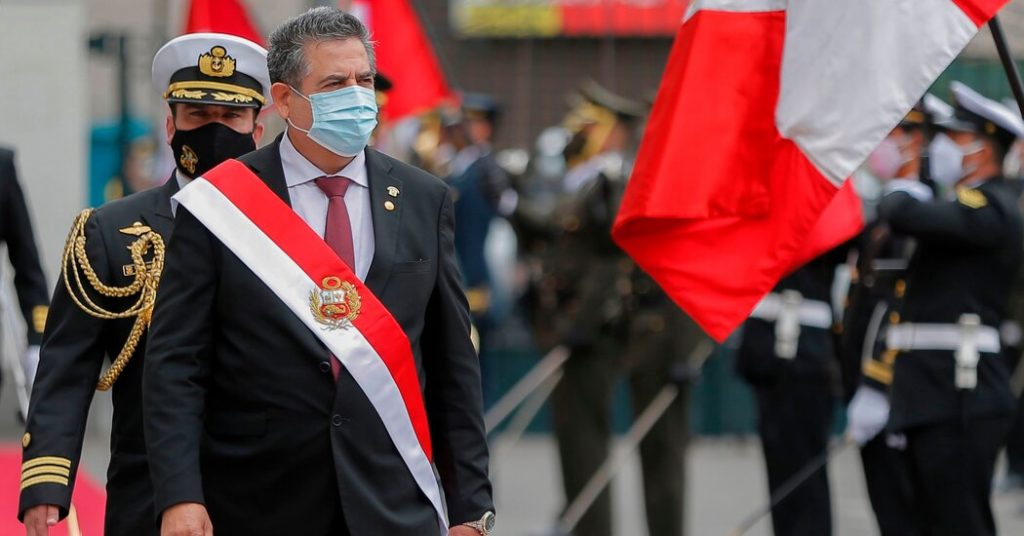 Peruvian caretaker President Manuel Merino has resigned amid protests
