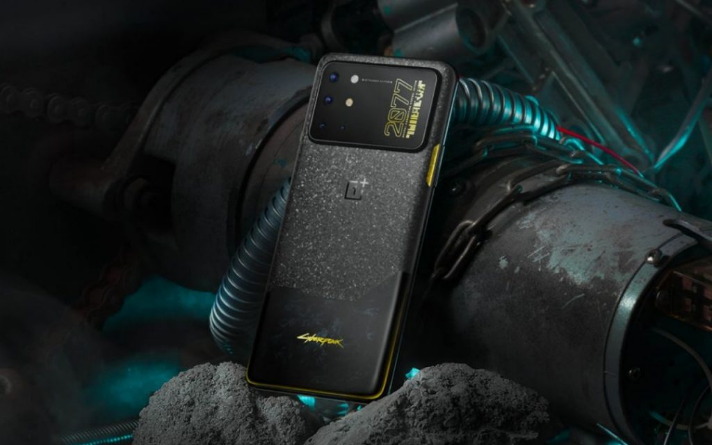 The OnePlus 8T Cyberpunk 2077 Edition has a satirical camera bump