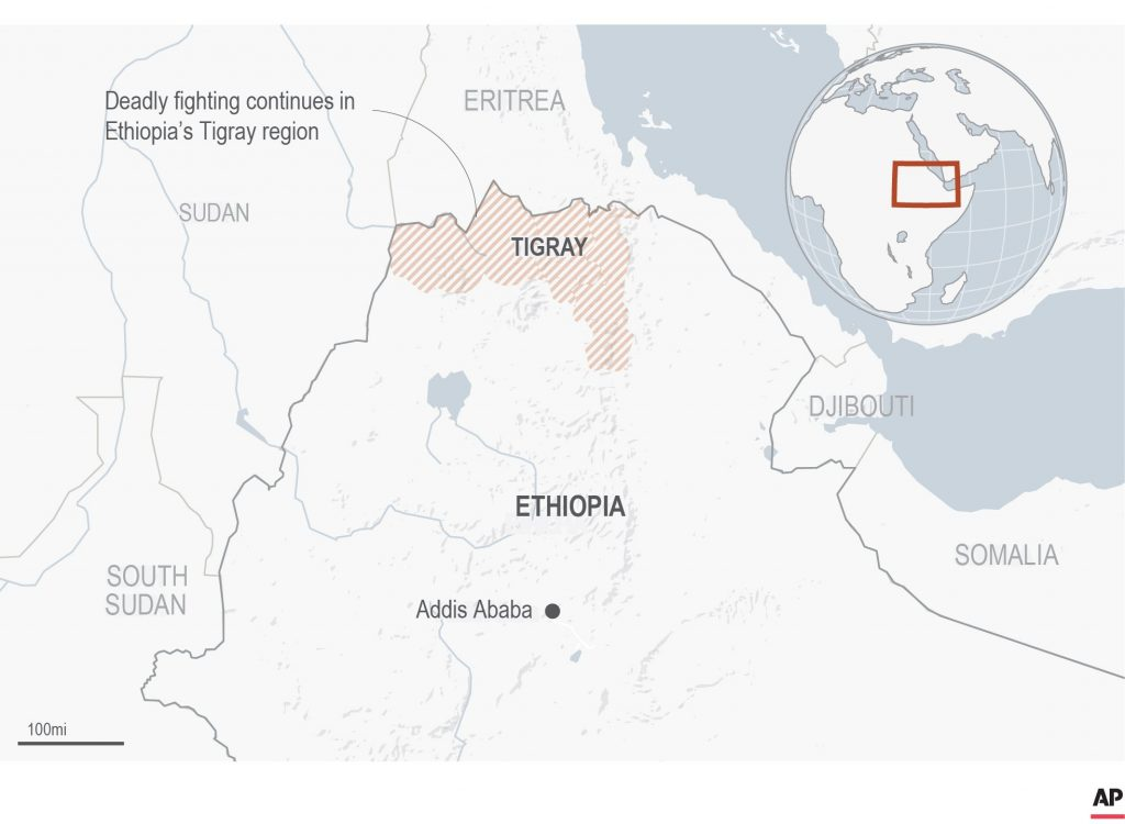The first witness account emerged that Ethiopians were fleeing the conflict