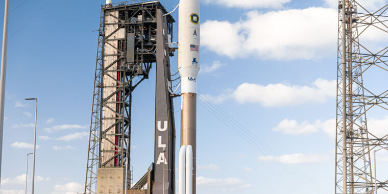ULA said today's Atlas V launch had all the vessels in a row