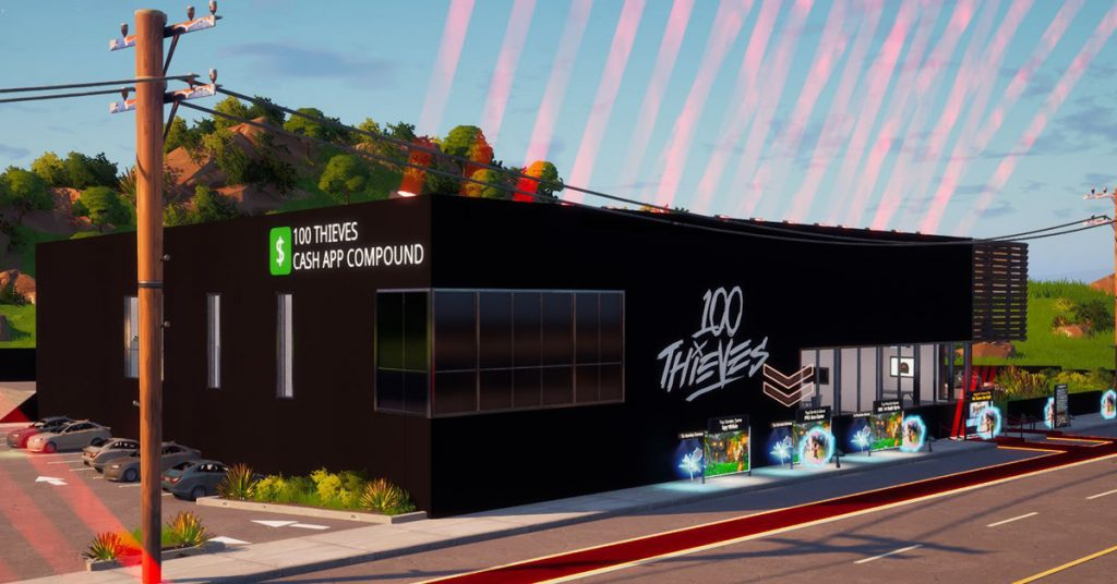 You can now explore the 100 Thieves Cash App compound inside Fortnight