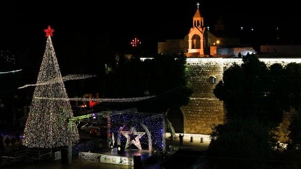 Bethlehem Christmas tree-lighting is a more repressed affair amid the epidemic