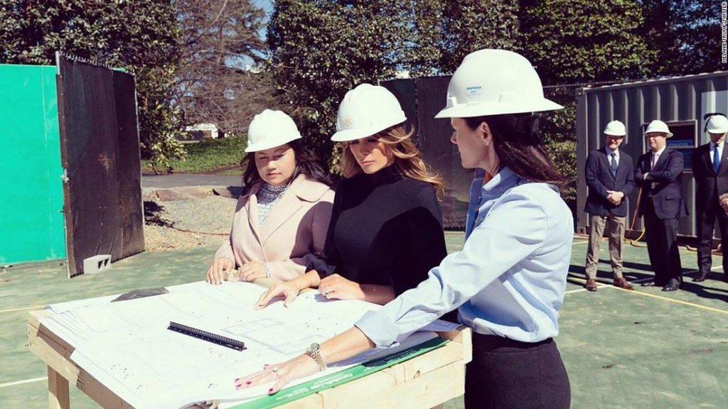 Melania Trump excites new White House tennis pavilion amid ongoing epidemic