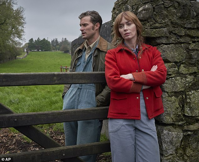 New Image: This is a press release for Blunt's latest film Wild Mountain Thyme, starring opposite Jamie Dornan.