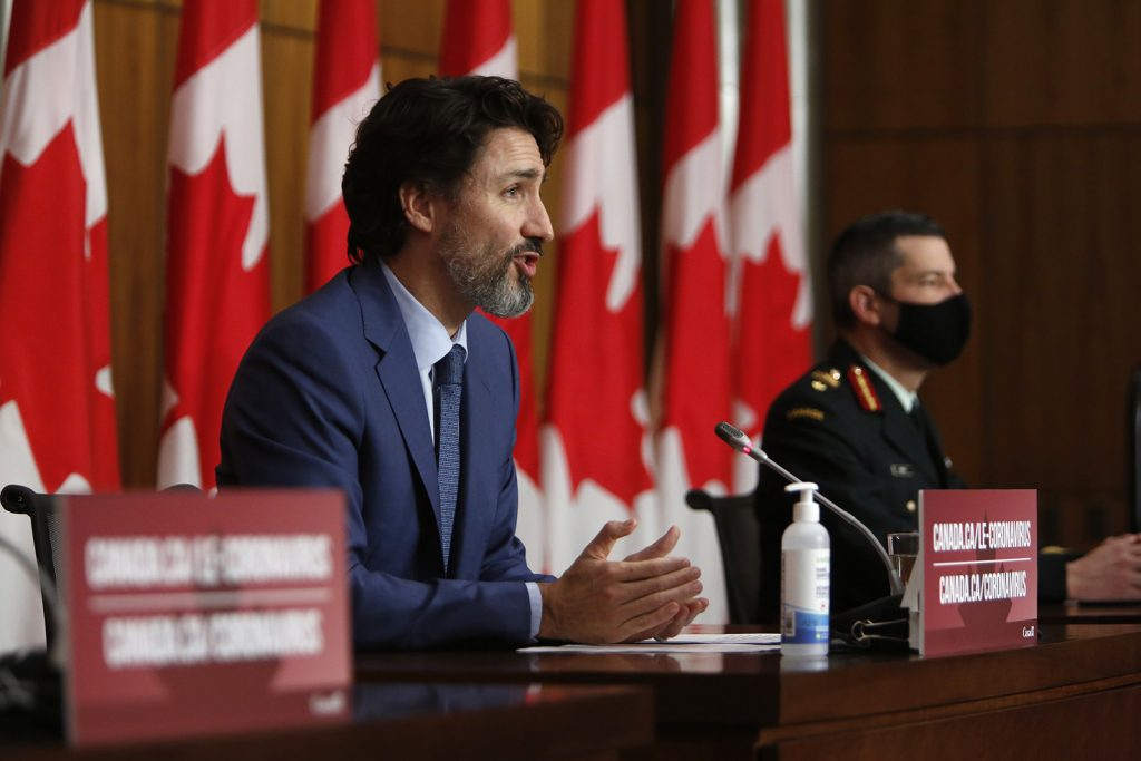 Justin Trudeau, Canada's Prime Minister, speaks during a news conference in Ottawa, Ontario, Canada, on December 10.