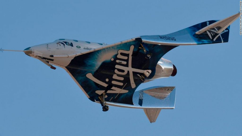The Virgin Galaxy has inadvertently stopped test flights of its space tourism aircraft