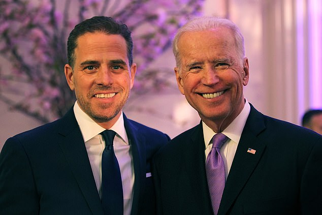 Hunter Biden (left) confirmed the existence of the investigation on Wednesday, saying he learned about it for the first time the day before.