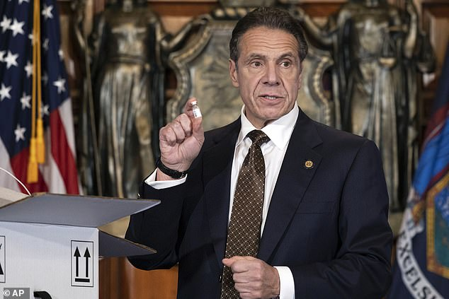 Investigations into Hunter have complicated the Attorney General's selection for Joe Biden, who is now said to be looking for a job with New York Governor Andrew Cuomo (above).