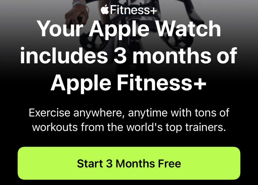 What to do if you do not see your Apple Fitness + 3 months free trial offer