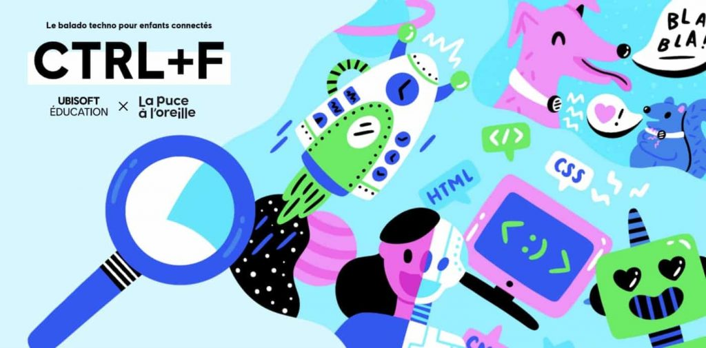 """""""CTRL + F"""", a new technology podcast for children ages 8 to 12 and their parents"""