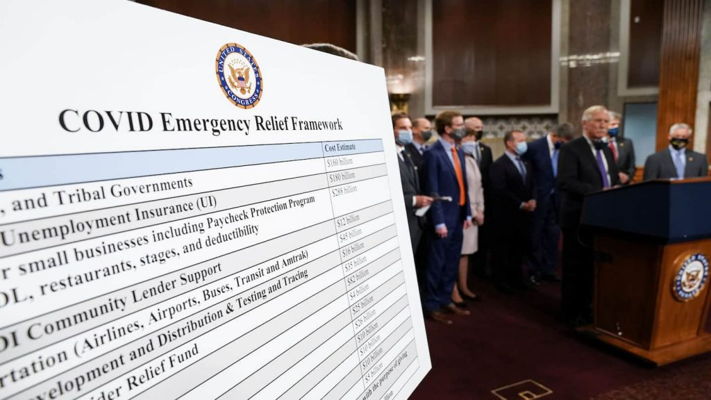 Bilateral group of senators announces $ 908 billion stimulus plan aimed at breaking the partisan lozam
