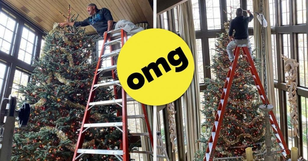 Faith Hill and Tim McGraw's huge Christmas tree is going viral