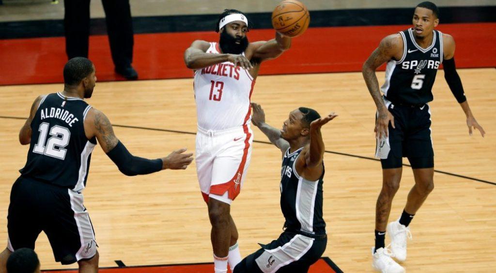 James Harden scored 12 in his pre-season debut, Rockets Down Spurs